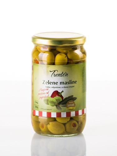 Grüne Oliven mit Paprikapaste 700g