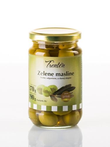 Grüne Oliven ganze 370g