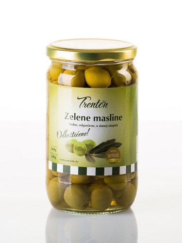 Grüne Oliven ohne Stein 660g