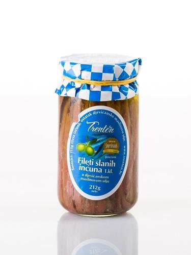 Sardellenfilets in nativen Olivenöl 212 gr.