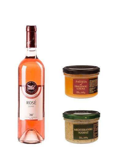 Apero-Set Vinoplod Rose 2012 & Trenton Pastete