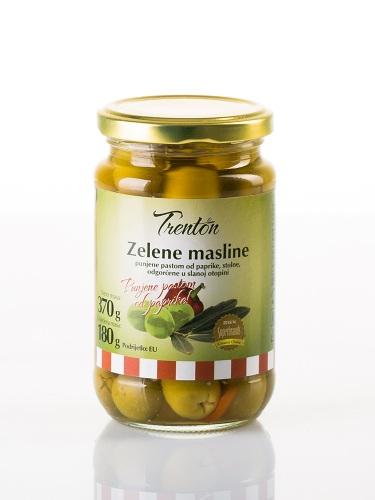 Grüne Oliven mit Paprikapaste 370g