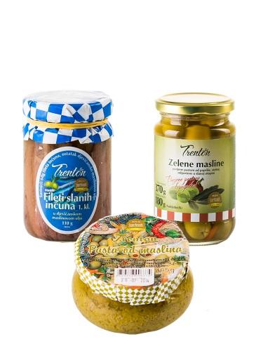 Probe-Set Trenton Sardellenfilets, Oliven & Olivenpastete