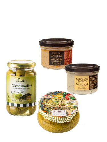Probe-Set Trenton Fischpasteten, Oliven & Olivenpastete